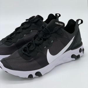 Nike Men's React Element 55 Black White Shoes